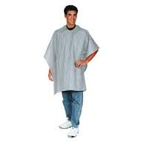 Scalpmaster Barber Cloth-Stripped Cape