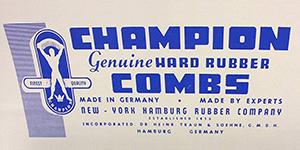 Champion Hard Rubber Combs